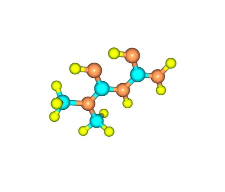 metformin: Metformin molecule isolated on white Stock Photo
