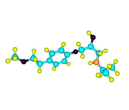 angor: El metoprolol es un medicamento bloqueador de los receptores beta selectivo. Se utiliza para la presi�n arterial alta tratamiento, dolor en el pecho debido a la mala circulaci�n de la sangre al coraz�n Foto de archivo