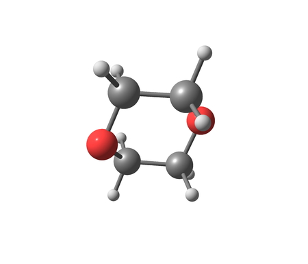 organic compound: 1,4-Dioxane (dioxane)  is a heterocyclic organic compound. It is a colorless liquid with a faint sweet odor similar to that of diethyl ether