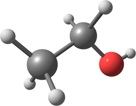 ethanol: Ethanol molecular structure isolated on white