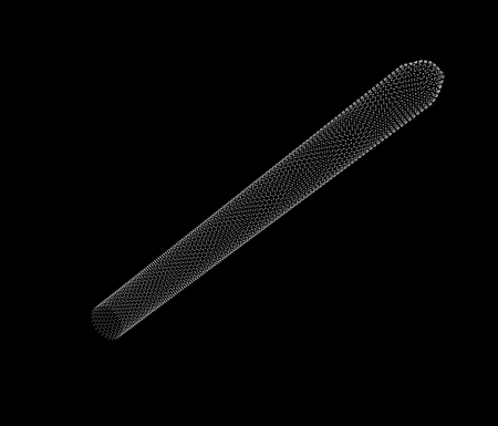 nanotubes: Carbon nanotubes (CNTs) are allotropes of carbon with a cylindrical nanostructure. Stock Photo