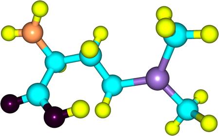 Vitamin U (S-Methylmethionine) is a derivative of methionine Stock Photo