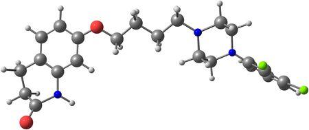 schizophrenia: El aripiprazol (Aripiprex) es un antipsicótico atípico. Se recomienda y se utiliza principalmente en el tratamiento de la esquizofrenia y el trastorno bipolar Foto de archivo