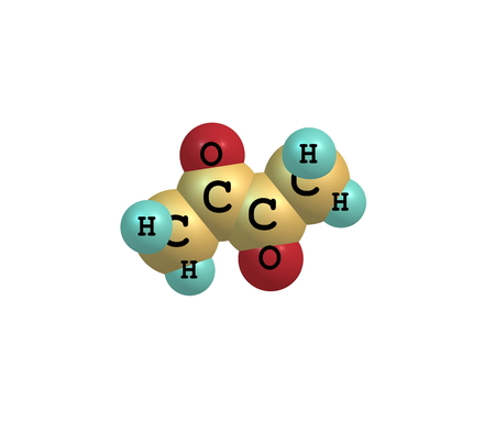 organic compound: Diacetyl (butanedione) is an organic compound with the chemical formula (CH3CO)2. It is a volatile, yellowgreen liquid with an intensely buttery flavor Stock Photo