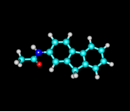 derivative: 2-Acetylaminofluorene is a carcinogenic and mutagenic derivative of fluorene. It is used as a biochemical tool in the study of carcinogenesis Stock Photo