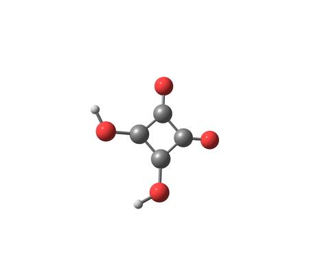 acido: Ácido escuárico (ácido cuadrática), átomos de carbono forman aproximadamente un cuadrado, es un compuesto orgánico con la fórmula química C4H2O4