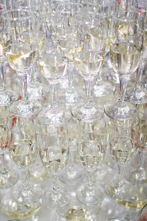 champaign: Champaign glasses isolated on white background Stock Photo