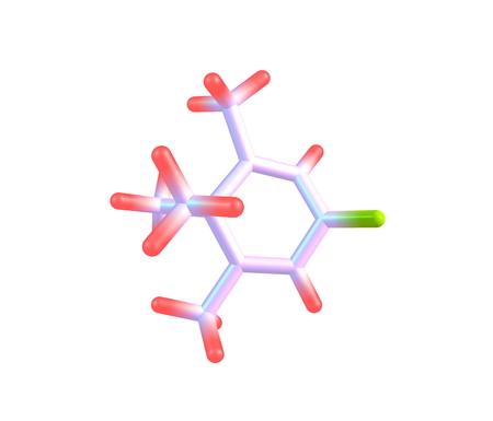 Penguinone est un composé organique avec la formule C10H14O moléculaire, Son nom vient du fait que sa structure moléculaire ressemble à un pingouin Banque d'images - 43731556