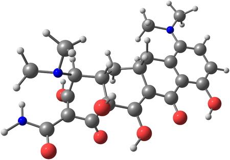 quimica organica: La minociclina (Minocin) es un antibi�tico de acci�n prolongada utilizado para tratar infecciones, como la enfermedad de Lyme, �ntrax, peste bub�nica, la s�filis y el c�lera