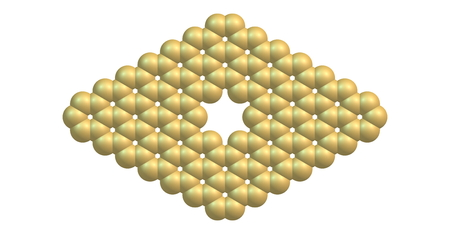graphene: Pore in graphene which is an allotrope of carbon in the form of a two-dimensional, atomic-scale, hexagonal lattice in which one atom forms each vertex