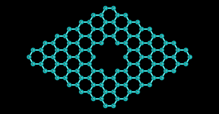 pore: Pore in graphene which is an allotrope of carbon in the form of a two-dimensional, atomic-scale, hexagonal lattice in which one atom forms each vertex