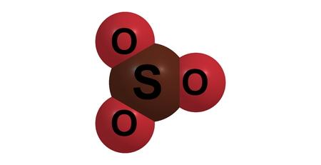 kwaśne deszcze: trójtlenek siarki jest związek chemiczny o wzorze SO3. W postaci gazowej, gatunek ten jest znaczne zanieczyszczenia, jako główny czynnik w kwaśnych deszczach Zdjęcie Seryjne
