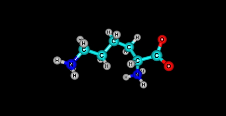 lysine: Lysine is an essential amino acid, lysine is a base, as are arginine and histidine.