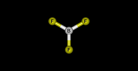 planar: Boron trifluoride is the inorganic compound with the formula BF3. This pungent colourless toxic gas forms white fumes in moist air
