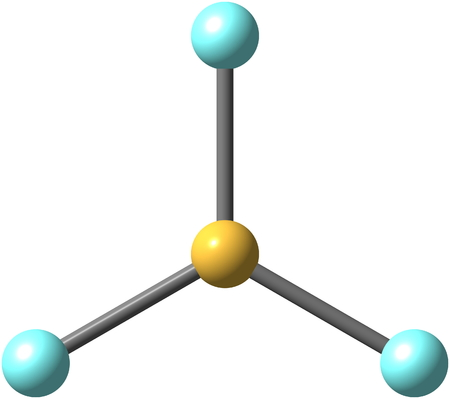 boron: Boron trifluoride is the inorganic compound with the formula BF3. This pungent colourless toxic gas forms white fumes in moist air