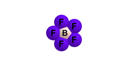 solvent: Bromine pentafluorid, BrF5, is an interhalogen compound and a fluoride of bromine. It is a strong fluorination reagent Stock Photo