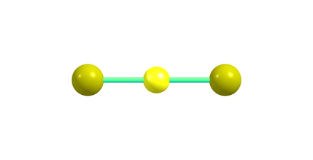 disulfide: Carbon disulfide is a colorless volatile liquid with the formula CS2. The compound is used frequently as a building block in organic chemistry as well as an industrial and chemical non-polar solvent. Stock Photo
