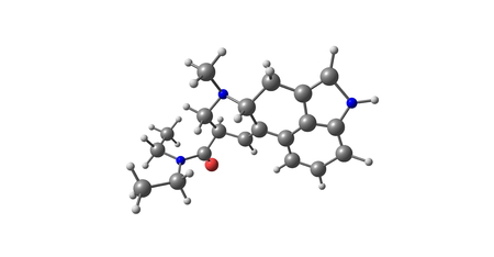 opioid: Acetorphine is a potent opioid analgesic, up to 8700 times stronger than morphine by weight. 3D illustration. Stock Photo