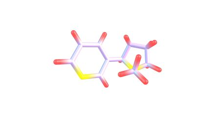 nicotine: Nicotine is a potent parasympathomimetic alkaloid found in the nightshade family of plants and is a stimulant drug. 3d illustration.