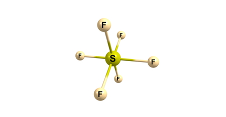 greenhouse gas: Sulfur hexafluoride is an inorganic, colorless, odorless, non-flammable, extremely potent greenhouse gas which is an excellent electrical insulator. 3d illustration Stock Photo
