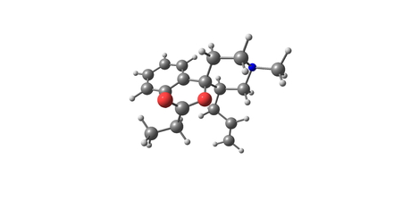 opioid: Allylprodine is an opioid analgesic that is an analog of prodine. 3d illustration Stock Photo