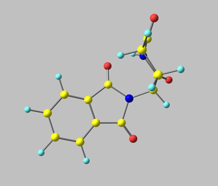 marketed: Currently marketed under the brand names Immunoprin, Talidex, Talizer, Thalidomide is an immunomodulatory drug and the prototype of the thalidomide class of drugs, 3d illustration