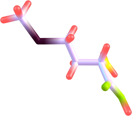 metabolism: A model of a molecule of methionine, an essential amino acid. Amino acids are the building blocks of proteins and have many functions in metabolism. 3d illustration Stock Photo