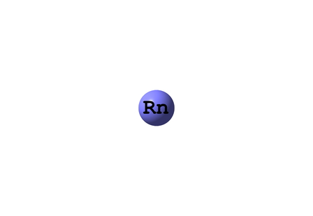 radon: Radon is a chemical element with symbol Rn. It is a radioactive, colorless, odorless, tasteless noble gas. 3d illustration