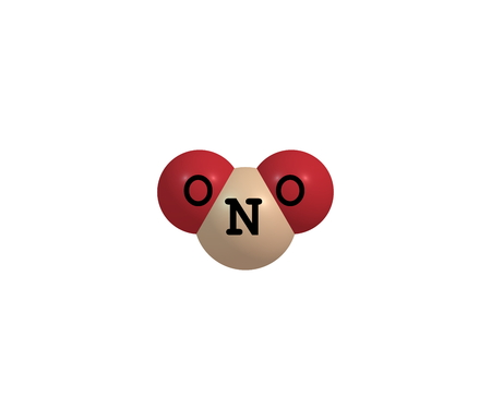 intermediate: Nitrogen dioxide is the chemical compound with the formula NO2. It is one of several nitrogen oxides. NO2 is an intermediate in the industrial synthesis of nitric acid. 3d illustration