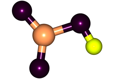 nitro: Nitric acid - HNO3 - also known as aqua fortis and spirit of niter, is a highly corrosive strong mineral acid. 3d illustration