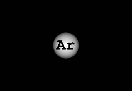 ar: Argon is a chemical element with symbol Ar and atomic number 18. It is in group 18 of the periodic table and is a noble gas. 3d illustration