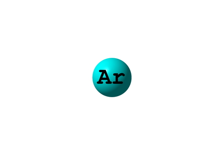 Argon Is A Chemical Element With Symbol Ar And Atomic Number Stock