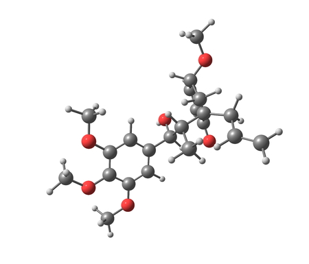 cytotoxic: Megaphone is a cytotoxic neolignan obtained from Aniba megaphylla, which gave the compound its name. Megaphone has also been prepared synthetically. 3d illustration