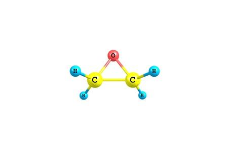 酸化エチレン、オキシランとも呼ばれますは、有機の化合物です。酸化物がかすかに甘い臭気を持つ、常温で無色の可燃性ガスです。3 d イラストレ 写真素材