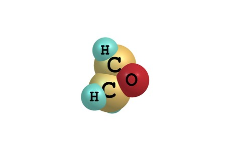 carcinogenic: Ethylene oxide, also called oxirane, is the organic compound. It is oxide is a colorless flammable gas at room temperature, with a faintly sweet odor. 3d illustration Stock Photo