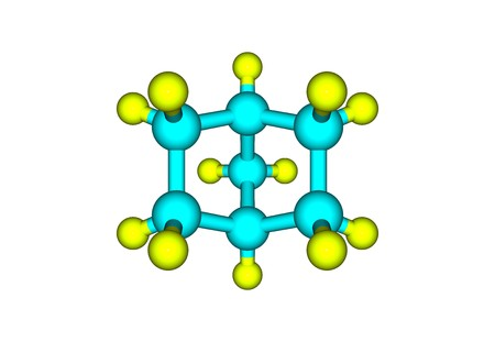 carcinogenic: A bicyclic molecule with two fused rings. 3d illustration
