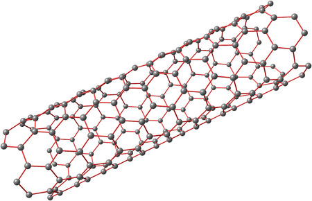 Carbon nanotube on white background 版權商用圖片