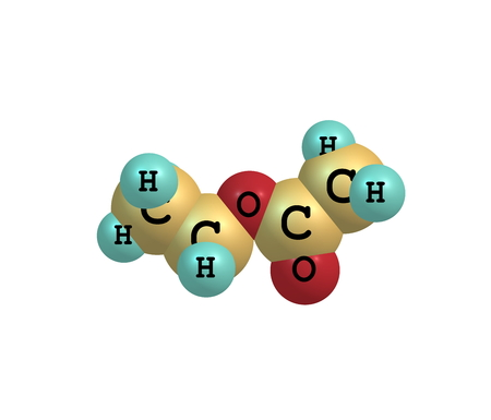 organic fluid: Ethyl acetate or ethyl ethanoate is the organic compound. This colorless liquid has a characteristic sweet smell - similar to pear drops. 3d illustration