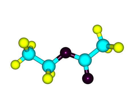 organic compound: Ethyl acetate or ethyl ethanoate is the organic compound. This colorless liquid has a characteristic sweet smell - similar to pear drops. 3d illustration