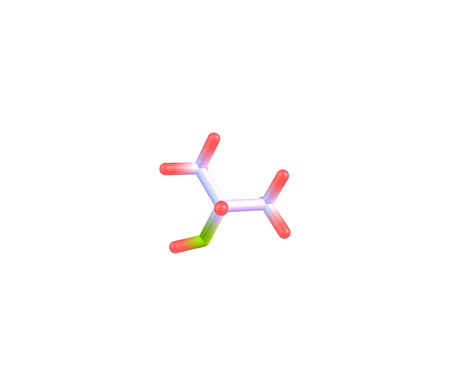 Isopropyl alcohol or Isopropanol is a chemical compound with the molecular formula C3H8O. It is a colorless, flammable chemical compound with a strong odor. 3d illustration