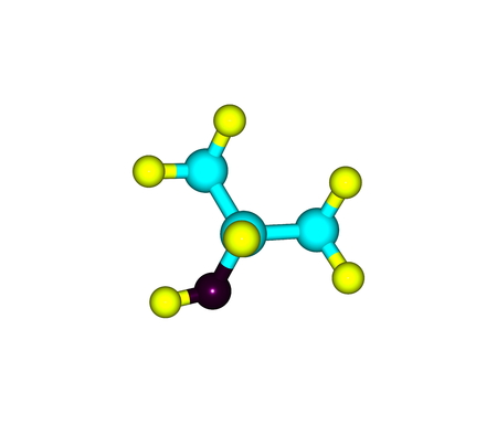 odor: Isopropyl alcohol or Isopropanol is a chemical compound with the molecular formula C3H8O. It is a colorless, flammable chemical compound with a strong odor. 3d illustration