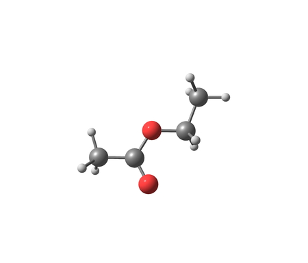 acetate: Ethyl acetate or ethyl ethanoate is the organic compound. This colorless liquid has a characteristic sweet smell - similar to pear drops. 3d illustration