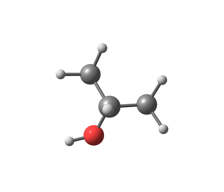 chemical compound: Isopropyl alcohol or Isopropanol is a chemical compound with the molecular formula C3H8O. It is a colorless, flammable chemical compound with a strong odor. 3d illustration