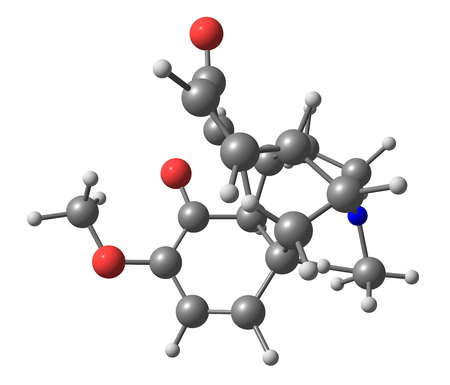 palliative: Oxycodone is a semi-synthetic opioid synthesized from poppy-derived thebaine. It is a narcotic analgesic generally indicated for relief of moderate to severe pain. 3d illustration
