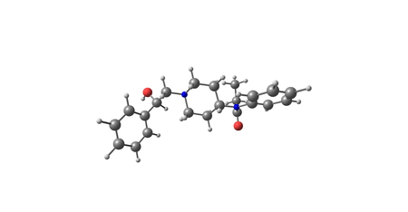 beta-Hydroxyfentanyl is an opioid analgesic that is an analogue of fentanyl. 3d illustration