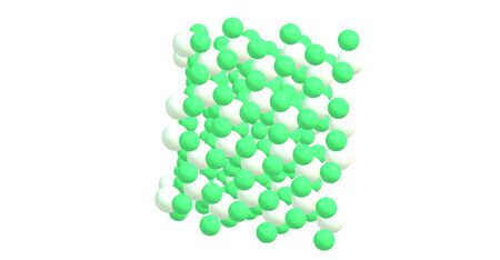 precursor: Chromium 3 chloride or chromic chloride describes any of several compounds of with the formula CrCl3H2O. 3d illustration