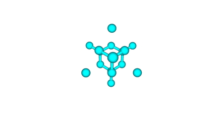 certain: The diamond cubic crystal structure is a repeating pattern of 8 atoms that certain materials may adopt as they solidify. 3d illustration