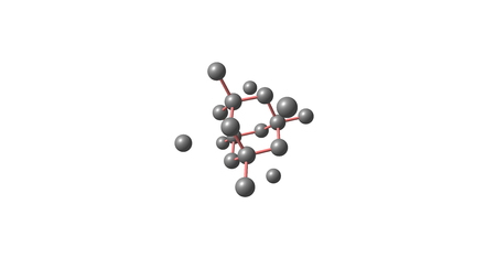 solidify: The diamond cubic crystal structure is a repeating pattern of 8 atoms that certain materials may adopt as they solidify. 3d illustration