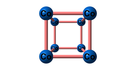 atomic symbol: Cobalt is a chemical element with symbol Co and atomic number 27. 3d illustration