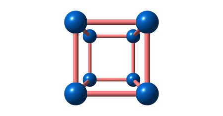 atomic number: Cobalt is a chemical element with symbol Co and atomic number 27. 3d illustration